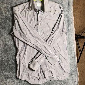 2019 Men's Prada Stretch Satin Button Down